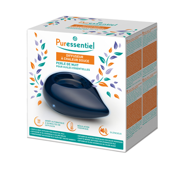 Gentle Heat Diffuser for Essential Oils, 1 unit, Midnight Pearl