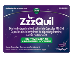 Image of product Vicks - ZzzQuil LiquiCaps Nighttime Sleep-Aid, 12 units
