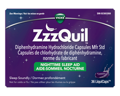 Image of product Vicks - ZzzQuil LiquiCaps Sleep-Aid, 36 units