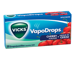 Image of product Vicks - VapoDrops, 20 units, Cherry