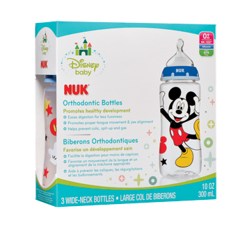 Disney Mickey & Minnie Mouse Orthodontic Bottles, 3 x 300 ml