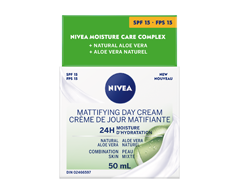 Image of product Nivea - Essentials 24h Moisture Boost + Matte Oil-Free Day Cream SPF 15, 50 ml, Combination Skin