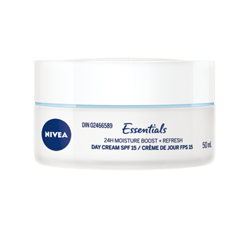 Image 2 of product Nivea - Essentials 24H Moisture Boost + Refresh Day Cream SPF 15, 50 ml, Normal Skin