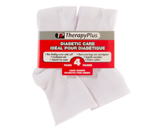 Image of product Therapy Plus - Diabetic Non-Binding Quarter Women, 4 pairs, 9-11 White
