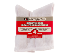 Image of product Therapy Plus - Diabetic Non-Binding Crew Women, 4 pairs, 9-11 White