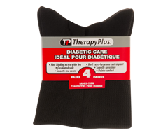 Image of product Therapy Plus - Diabetic Non-Binding Crew Women, 4 pairs, 9-11 Black