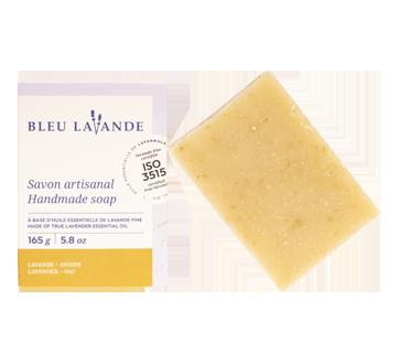 Handmade lavender and oat exfoliating soap, 165 g, Beige