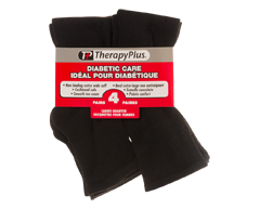Image of product Therapy Plus - Diabetic Non-Binding Quarter Women, 4 pairs, 9-11 Black