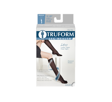 Image of product Truform - Compression Hosiery 15-20 mmhg, Black Small