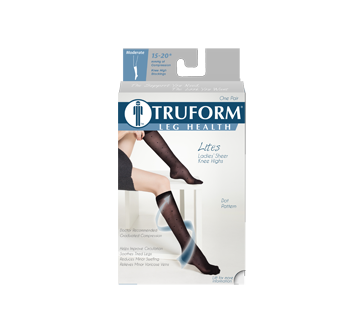 Image of product Truform - Compression Hosiery 15-20 mmhg, Black Extra Large
