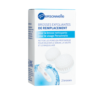 Replacement Exfoliating Brushes, 2 units