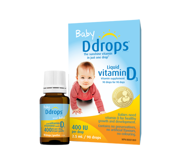 Image of product Ddrops - Baby Ddrops 400 IU, 2.5 ml