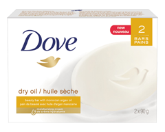 Image of product Dove - Dry Oil Moisture Beauty Bar, 2 x 90 g