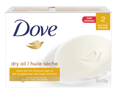Image of product Dove - Dry Oil Moisture Beauty Bar, 2 x 113 g