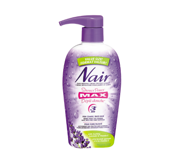 Image of product Nair - Max Shower Power, 312 g, Soothing Lavender and Vitamin E