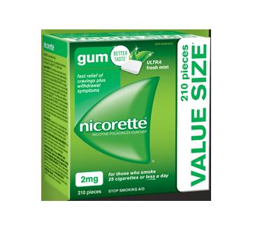 Image of product Nicorette - Nicotine Polacrilex Gum USP 2 mg, 210 units, Ultra Fresh Mint