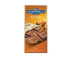 Image of product Ghirardelli - Ghirardelli Milk Chocolate & Caramel, 100 g