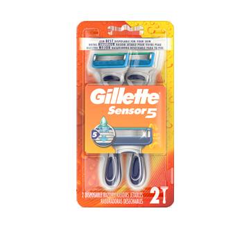 Sensor5 Men's Disposable Razor, 2 units