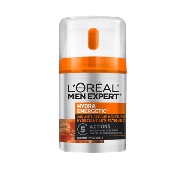 Men Expert Hydra Energetic 24H Anti-Fatigue Moisturizer, 48 ml, Guarana + Vitamin C