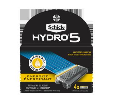 Schick Hydro 5 Mens Blade Razor Refills, 4 units