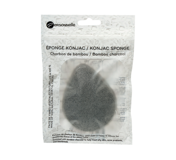 Image of product Personnelle Cosmetics - Konjac Sponge, 1 unit, Bamboo Charcoal