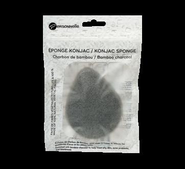 Konjac Sponge, 1 unit, Bamboo Charcoal