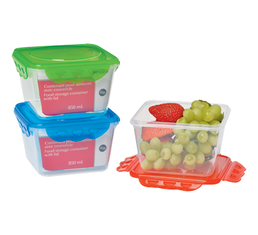 Food Storage Container with Lid, 850 ml