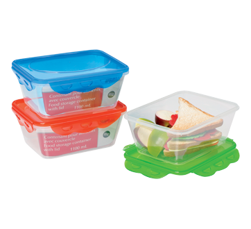 Food Storage Container with Lid, 1100 ml