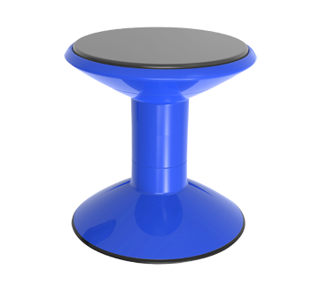 Wiggle Stool Non-Slip Base Adjustable 12-18 Inch Height, 1 unit, Blue