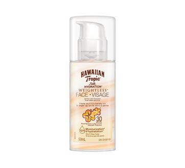 Image of product Hawaiian Tropic - Silk Hydration Weightless Face Sunscreen SPF 30, 50 ml