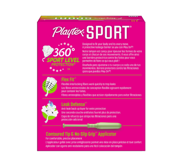 Image 2 of product Playtex - Sport Plastic Tampons, 18 units, Unscented Regular