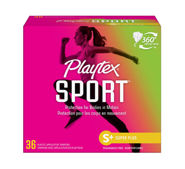 Image 1 of product Playtex - Sport Plastic Tampons, 36 units, Unscented Super Plus