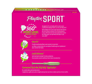 Image 2 of product Playtex - Sport Plastic Tampons, 36 units, Unscented Super Plus