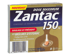 Image of product Zantac - Zantac 150 Maximum Strength Non-Prescription Tablets, 8 units