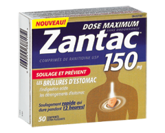 Image of product Zantac - Zantac 150 Maximum Strength Non-Prescription Tablets, 50 units