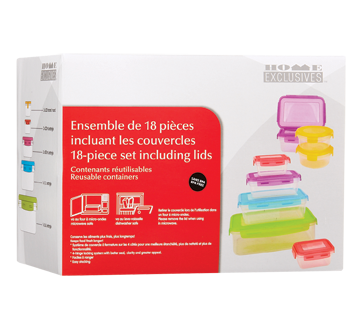 Reusable Containers Set , 18 units
