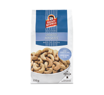 Unsalted Cashews, 225 g