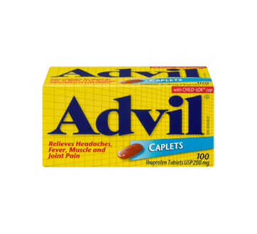 Advil Tablets, 100 units – Advil : Ibuprofen | Jean Coutu