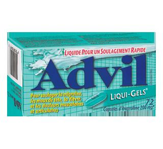 Advil Liqui-Gels, 72 units