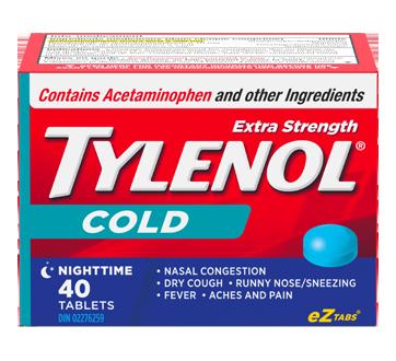 Image 1 of product Tylenol - Tylenol Cold Extra Strength Nighttime Formula, 40 units