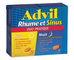 Image of product Advil - Advil Cold & Sinus Convenience Pack, 12+6 units