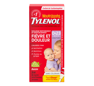 Tylenol Infants' Acetaminophen Suspension Concentrated Drops, 24 ml, Grape