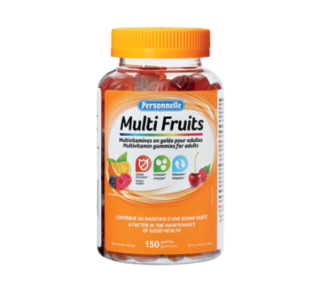 Image of product Personnelle - Multi Fruits Multivitamin Gummies for Adults, 150 units