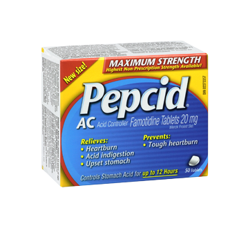 Image 2 of product Pepcid - Pepcid Ac Maximum Strength, 50 units