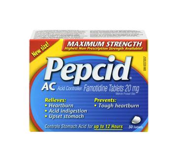 Image 3 of product Pepcid - Pepcid Ac Maximum Strength, 50 units