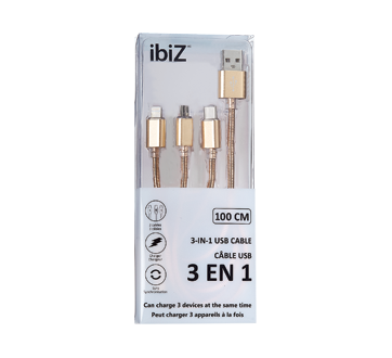 3-in-1 USB Cable, 1 unit