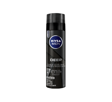 Deep Shaving Gel With Active Charcoal, 200 ml