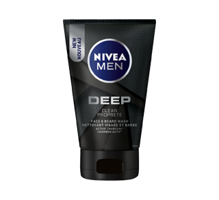Deep Face & Beard Wash With Active Charcoal, 100 ml