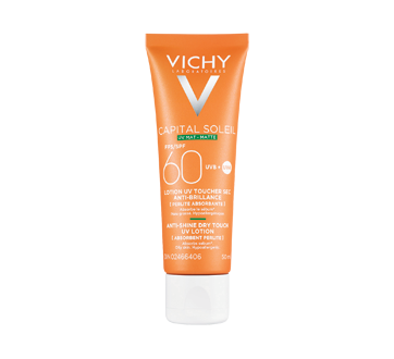 Image of product Vichy - Idéal Soleil Dry Touch Sunscreen Lotion, 50 ml, SPF 60