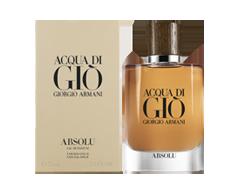 Image of product Giorgio Armani - Acqua Di Giò Absolu Eau de Parfum, 75 ml